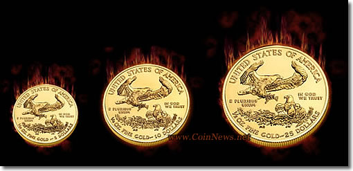 2010 American Eagle Gold Bullion Fractional Coins