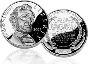 Lincoln Silver Dollar Proof Coin