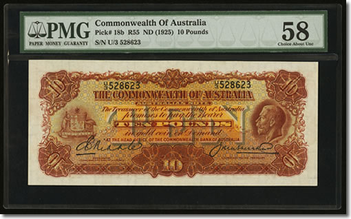 Australia Commonwealth of Australia £10 ND (1927)