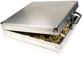 Briefcase of Coins