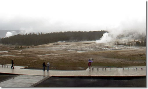 Old Faithful Geyser area
