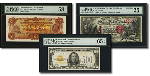 Three Featured Notes in Heritage Memphis International Paper Money Auction