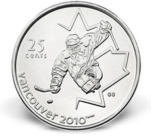 Royal Canadian Mint Ice Sledge Hockey 25-Cent Coin