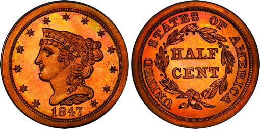 1847 Half Cent