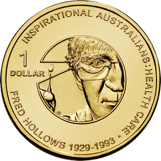 2010 $1 Uncirculated Fred Hollows Inspirational Coin