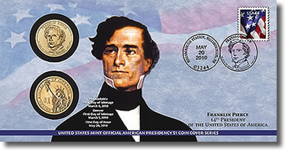 Franklin Pierce Presidential Dollar Coin Cover