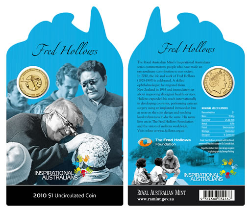 Fred Hollows Coin Packaging