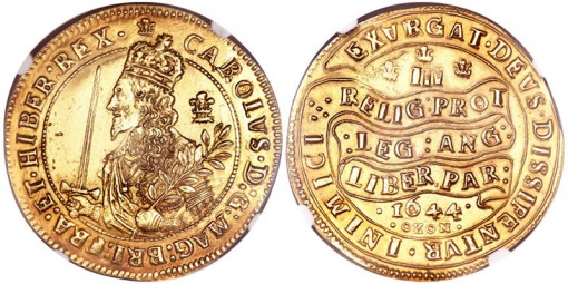 Great Britain Charles I gold Triple Unite 1644 Oxon