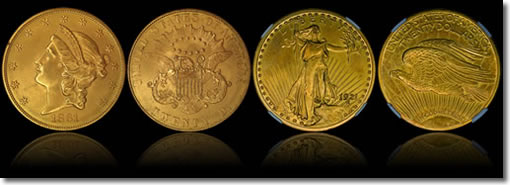 1861-P Paquet and 1921 Proof Double Eagles