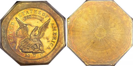 1851 $50 LE Humbert Fifty Dollar