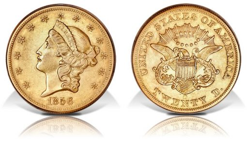 1856-O Double Eagle Gold Coin