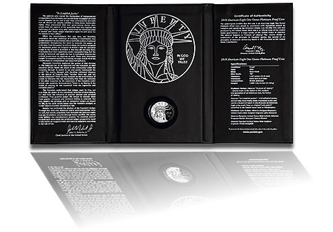 2010 American Eagle One Ounce Platinum Proof Coin Presentation Case