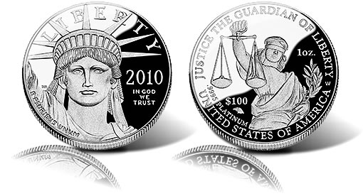 2010 Proof Platinum American Eagle