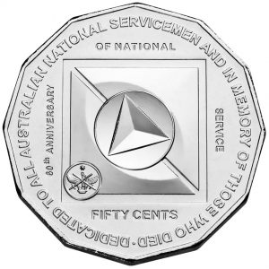 50 Cent Australian National Service Commemorative Coin