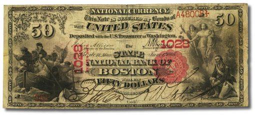 Boston, MA - $50 1875 National Bank Note
