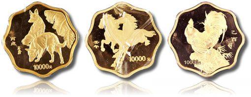 Chinese 10,000 Yuan Lunar Kilo coins