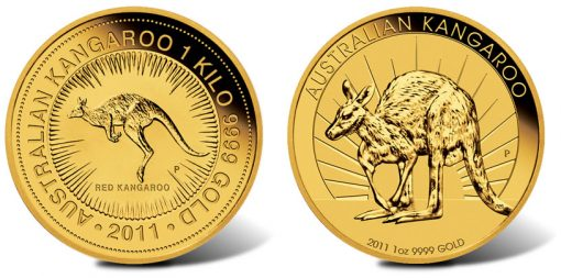 2011 Australian Kangaroo Gold Coins - 1 Kilo and 1 Ounce
