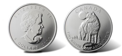 2011 Canadian Silver Wolf Bullion Coin