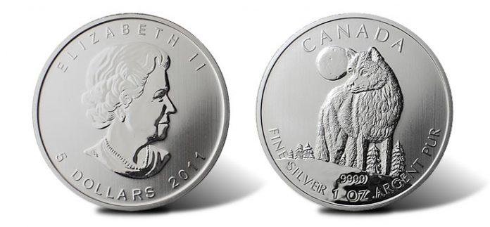 2011 Canadian Silver Wolf Bullion Coin