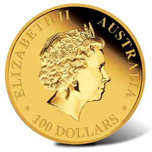 2011 Kangaroo Gold Coin - Obverse