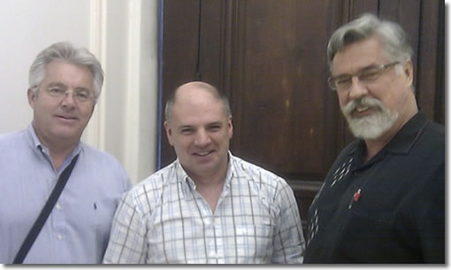 Don Willis, Fabrice Walther, and David Hall in Paris Sept. 2010