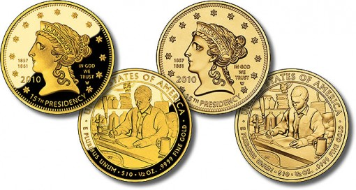 Buchanan's Liberty First Spouse Gold Coins