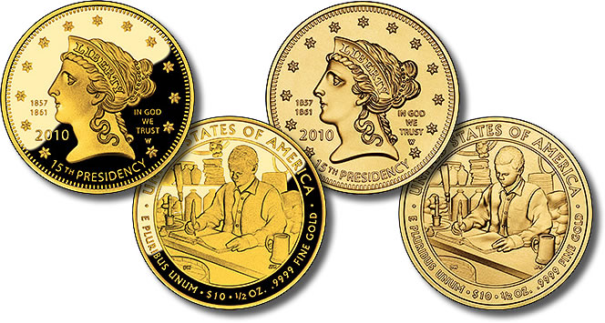 Buchanan's Liberty First Spouse Gold Coins