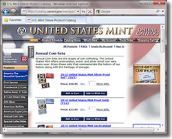 US Mint Annual Product Page