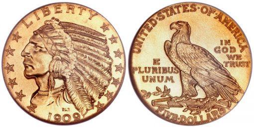 1909 Indian Half Eagle