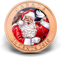 2010 50-Cent Santa and Red-Nosed Reindeer Coin