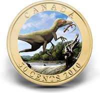 2010 50-Cent Sinosaupteryx Dinosaur Lenticular Coin