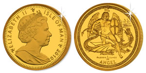 2010 Gold Angel Coin