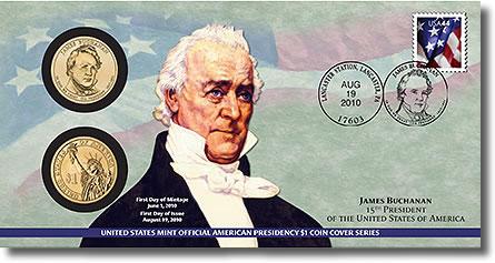 James Buchanan Presidential Dollar Coin Cover