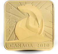 2010 Polar Bear Square-Shaped Coin