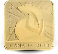 2010 Polar Bear Square-Shaped Coin