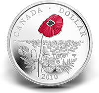 2010 Proof Poppy Silver Dollar