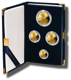 2010-W American Gold Eagle Proof Four Coin Set