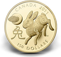 2011 $150 Year of the Rabbit Gold Coin
