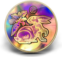 2011 $150 Year of the Rabbit Lunar Hologram Gold Coin
