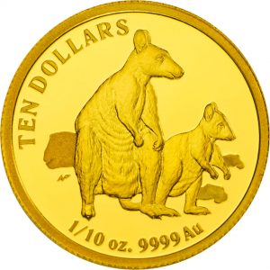 2011 Kangaroo Allied Rock-Wallaby $10 Gold Proof Coin