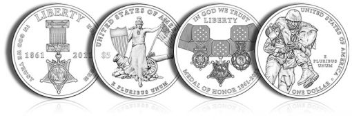 2011 Medal of Honor Commemorative Coin Designs