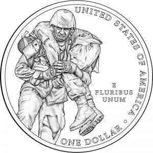 2011 Medal of Honor Commemorative Silver Coin Reverse Design