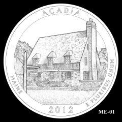 Acadia National Park Quarter Design Candidate ME-01