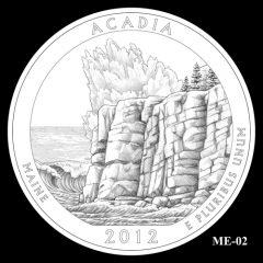 Acadia National Park Quarter Design Candidate ME-02