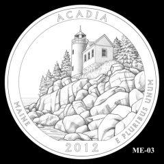 Acadia National Park Quarter Design Candidate ME-03