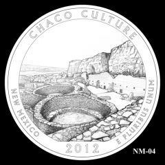 Chaco Culture National Historical Park Quarter Design Candidate NM-04