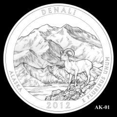 Denali National Park Quarter Design Candidate AK-01