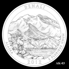 Denali National Park Quarter Design Candidate AK-03