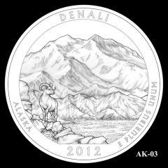Denali National Park Quarter Design Candidate AK-03