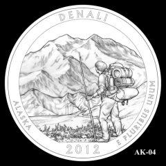 Denali National Park Quarter Design Candidate AK-04